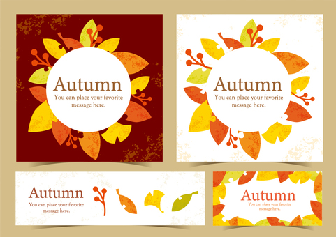 Autumn design template