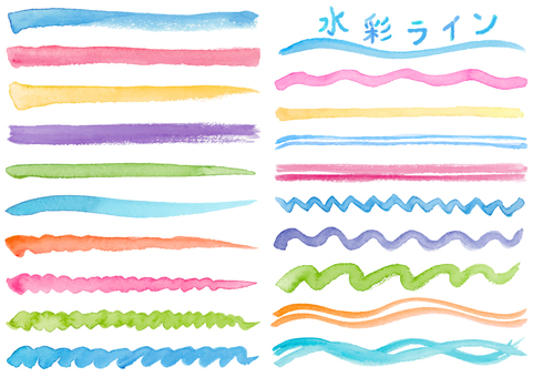 Watercolor material 15 lines