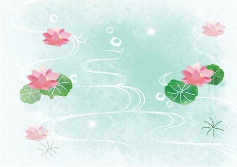 Lotus ☆ wave background