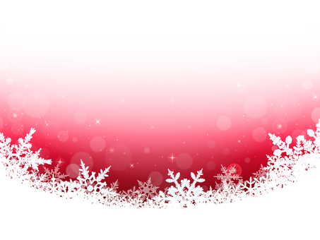 Winter background · snow crystal · red