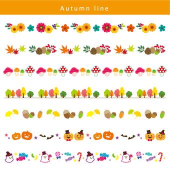 Autumn line set