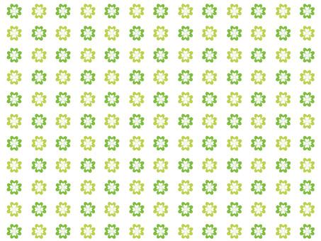 Four leaf clover wallpaper (white)