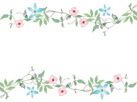 꽃과 덩굴의 프레임