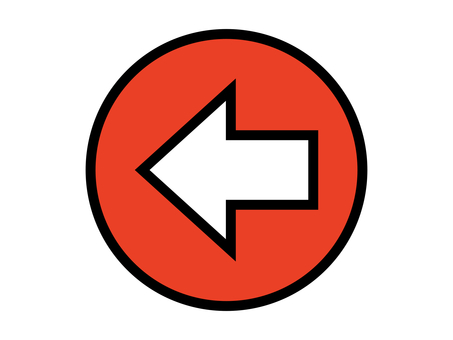 Arrow direction guide shape red