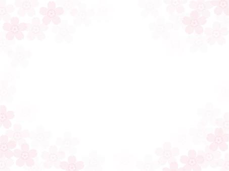 淡い桜の花のフレーム