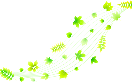 ai curve and leaf background · wallpaper · frame