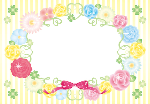 Flower frame (striped yellow)