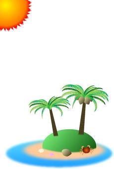 Tropical image postcard