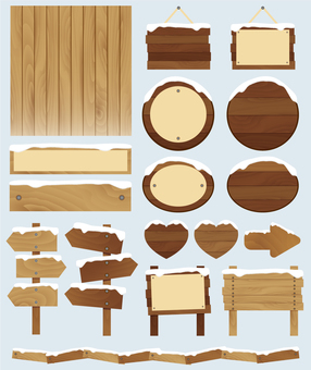 Wooden decoration set ♡ Winter ver