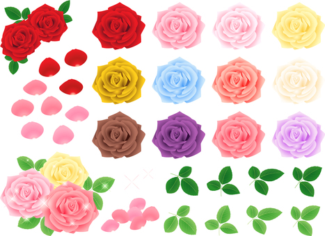 Realistic rose material set