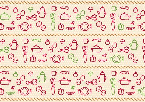 Background pattern kitchen