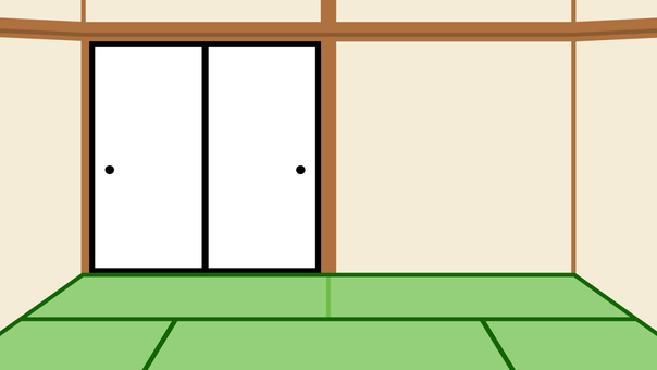 Simple Japanese style room background wide 16: 9