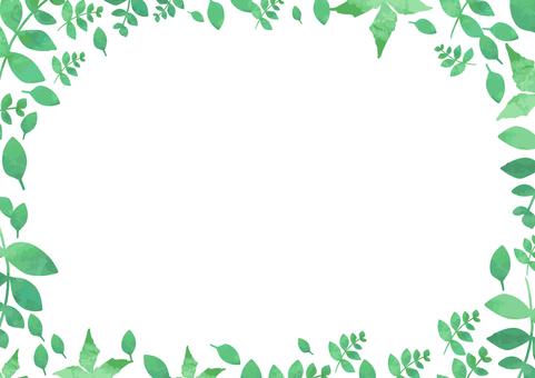수채화 잎