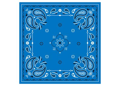 Paisley pattern bandana blue