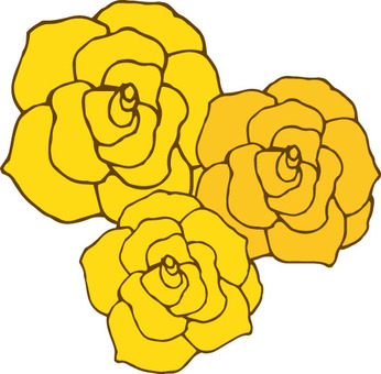 Flower (rose · yellow 3 pieces)