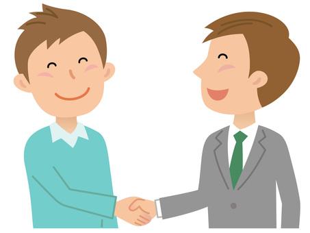 Male, handshake 1
