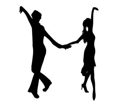 Ballroom dance 2 (silhouette)