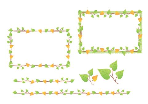 Leaf frame and line