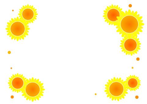 Sunflower frame (transparent) A4 size