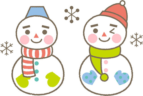 Nakayoshi snowman