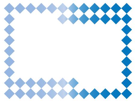 Simple frame 6 blue
