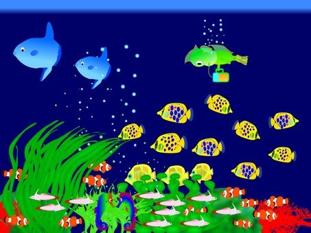 """Achievement aquarium """"Successful in half fishing of Edamame"""""""
