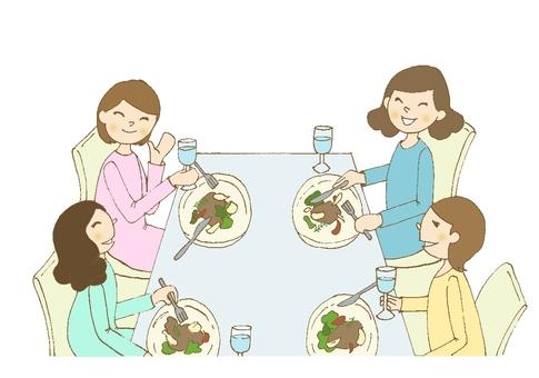Dinner party 1 (women)