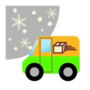 Delivery in the snow