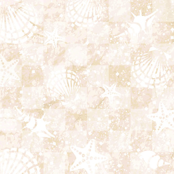 Shellfish, starfish, summer image background material