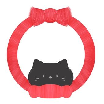 프레임, 머플러와 검은 고양이