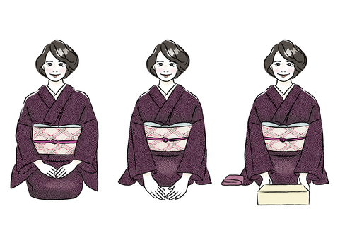 Kimono women B_ full body set 2