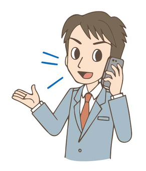 Salary man male phone talking