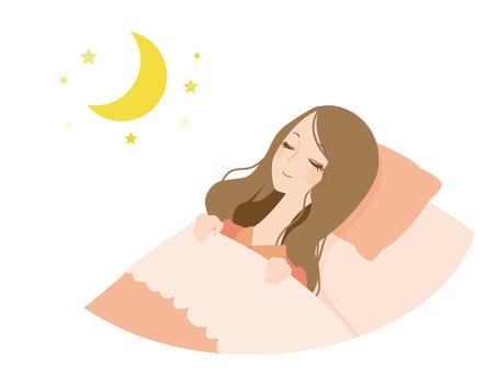 睡覺的婦女
