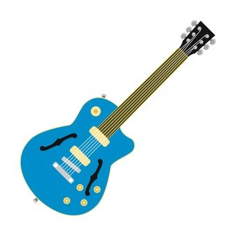 Electric guitar blue