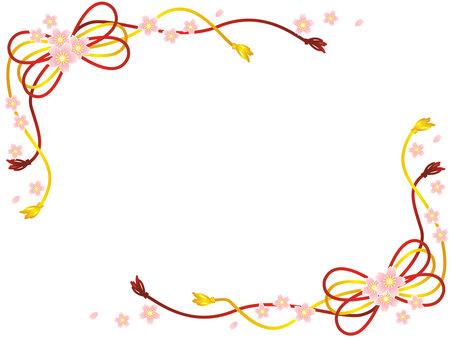 Japanese cherry-blossom frame 01