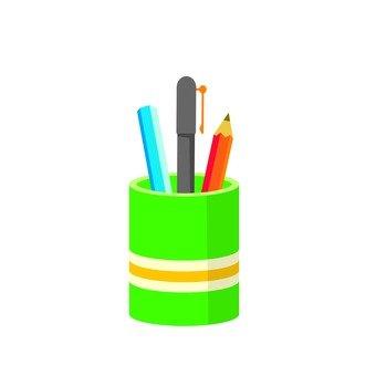 Pencil holder (green)