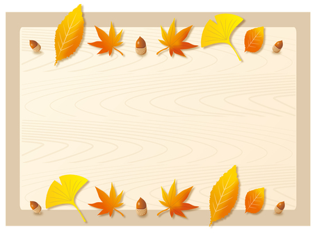 Fallen leaves and tree nut background
