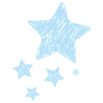Scribble Star _ Blue