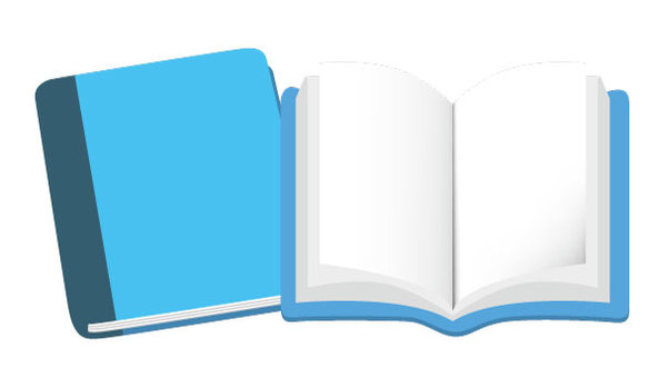Book icon blue