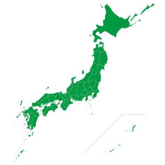 日本地図 都道府県パズル(県境透過)