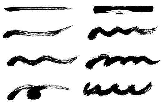 Brush strokes various sets