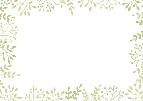 Green material frame