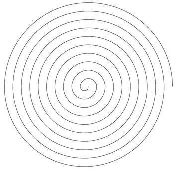 Precise 1cm spirals