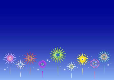 Fireworks background material