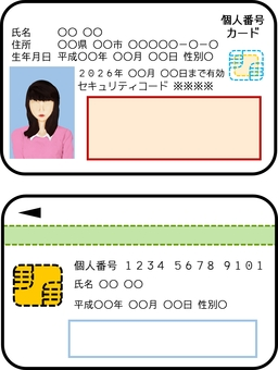 My number card · Real silhouette