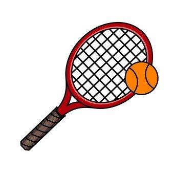 網球拍和網球
