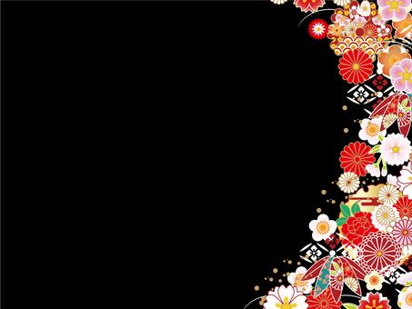 Japanese Pattern Background (Black)