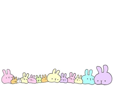 Pastel sticky rabbit line