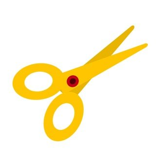 Yellow scissors