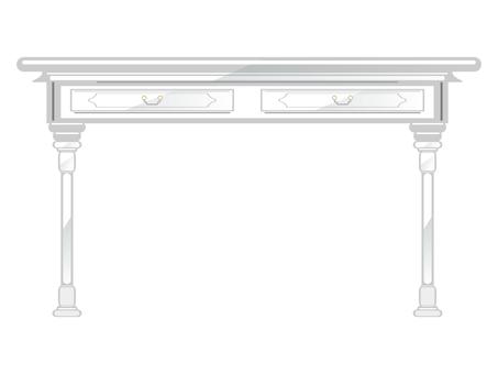 Antique furniture desk